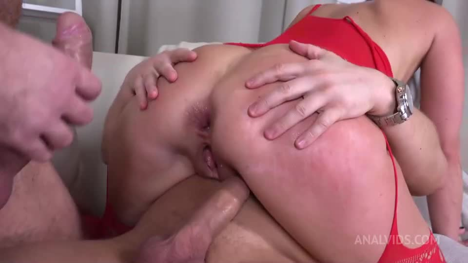 [LegalPorno / AnalVids] First DP Sexy Milf with Rimming and Cum in Mouth VG010 - Eva Black (DP)/(High Heels)