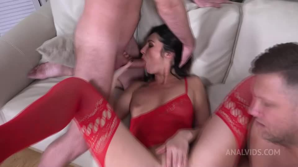 First DP Sexy Milf with Rimming and Cum in Mouth VG010 (LegalPorno / AnalVids) Screenshot 1