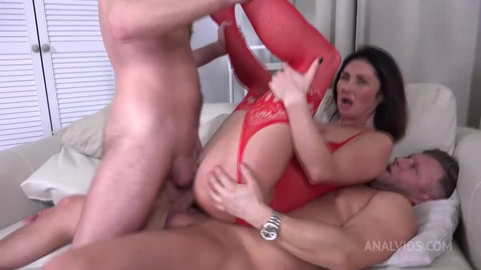 First DP Sexy Milf with Rimming and Cum in Mouth VG010 (LegalPorno / AnalVids) Screenshot 6