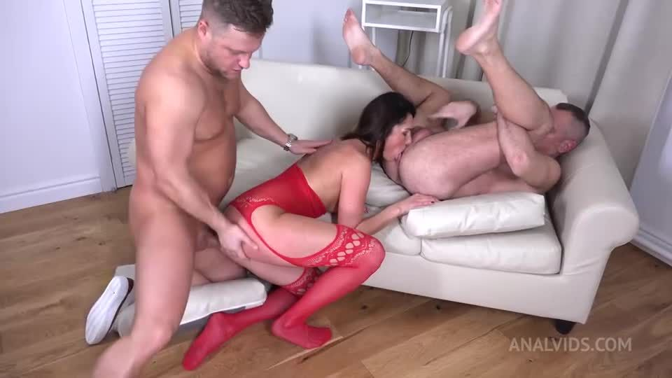 First DP Sexy Milf with Rimming and Cum in Mouth VG010 (LegalPorno / AnalVids) Screenshot 8
