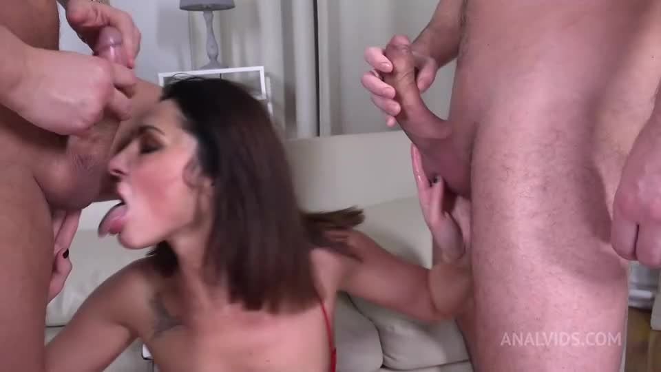 First DP Sexy Milf with Rimming and Cum in Mouth VG010 (LegalPorno / AnalVids) Screenshot 9