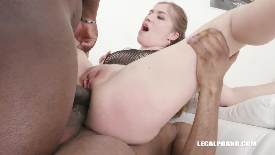 [LegalPorno] First hardcore BBC sex - Olga Evelina (DAP)/(Interracial)