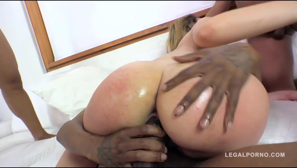 [LegalPorno] Big butt slut fucked by 5 guys & double anal - Briana Bounce (GangBang)/(Interracial)