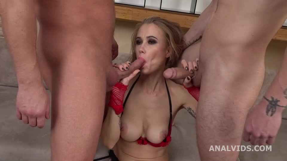 My First DP, Balls Deep Anal, Gapes and Cum in Mouth (LegalPorno / AnalVids) Screenshot 3