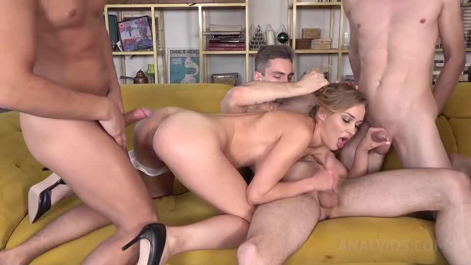 4 cocks vs 1 beauty! HARD fucking NRX034 (LegalPorno/AnalVids) Screenshot 2
