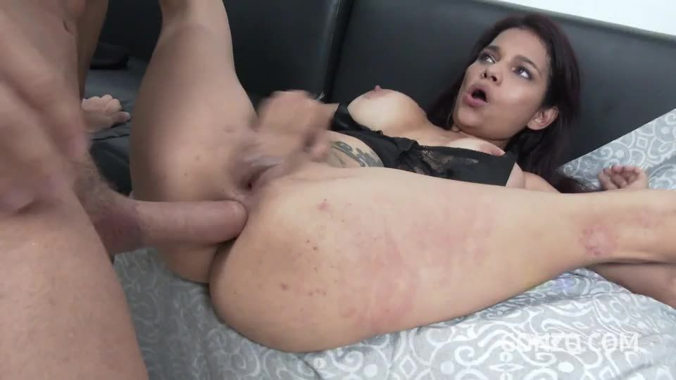[LegalPorno] Petite colombian slut gets her first DP - Mila Garcia (DP)/(Tattoo)
