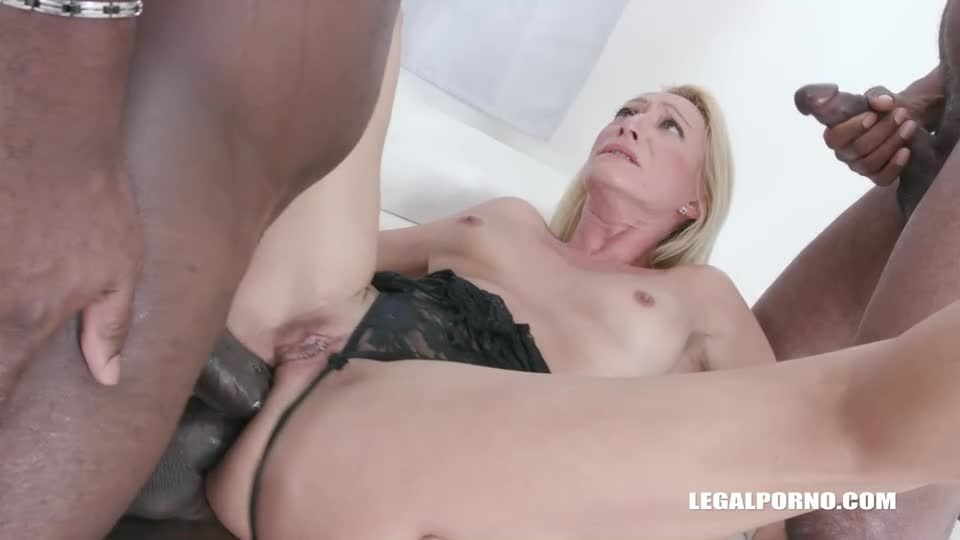 Discovers black feeling and takes 2 BBC in the ass balls deep (LegalPorno) Screenshot 5