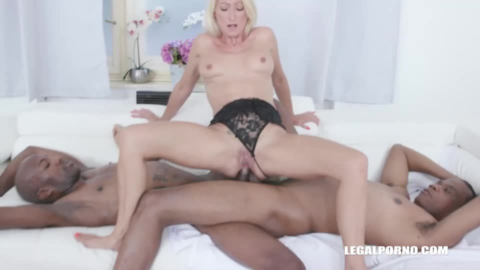Discovers black feeling and takes 2 BBC in the ass balls deep (LegalPorno) Screenshot 7
