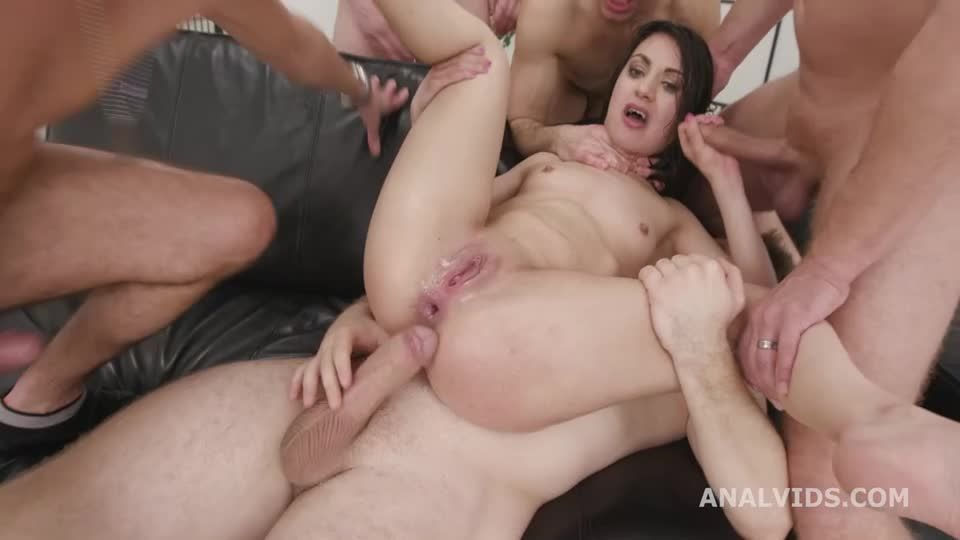 Basined, Balls Deep Anal, DP, DAP, Squirting, Tons of Pee Drink, Gapes, Almost ButtRose and Swallow (LegalPorno / AnalVids) Screenshot 5