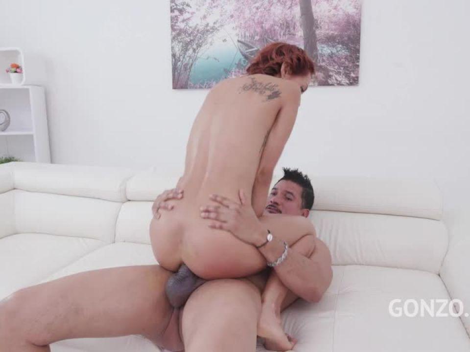 Balls deep fucking with DP piss drinking (LegalPorno) Screenshot 8