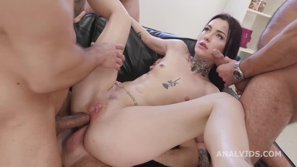 Naked Barefoot, Balls Deep Anal, Gapes, DAP, ATM and Swallow (LegalPorno / AnalVids) Screenshot 4