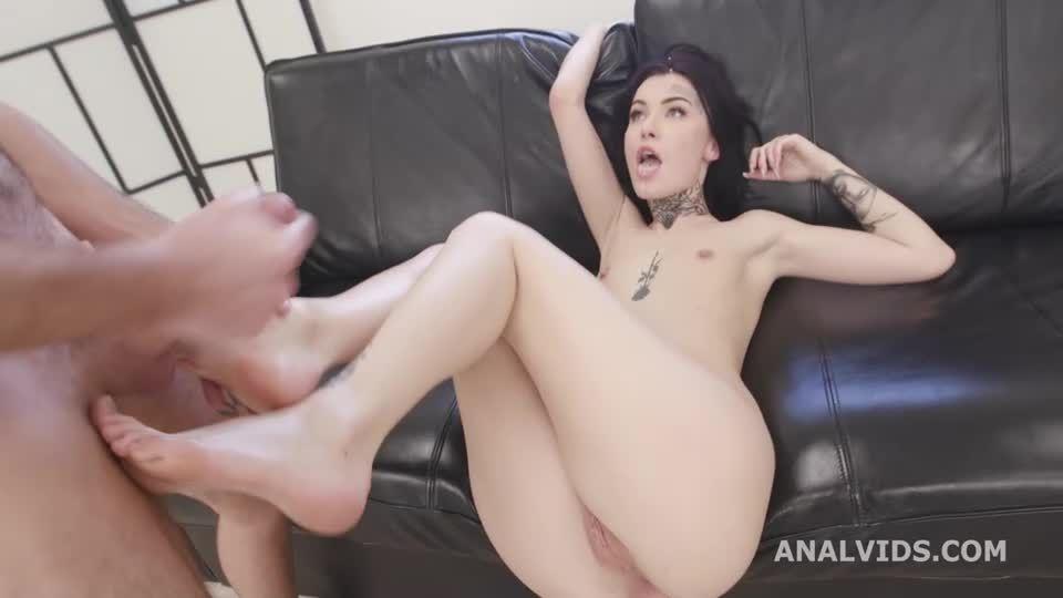Naked Barefoot, Balls Deep Anal, Gapes, DAP, ATM and Swallow (LegalPorno / AnalVids) Screenshot 9