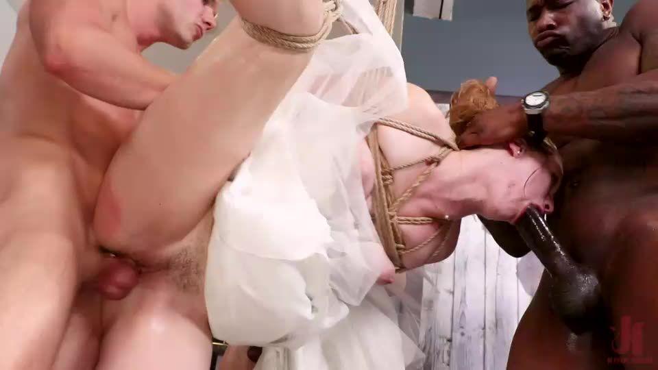 [BoundGangBangs / Kink] Bride Slut: Ella Nova Takes 5 Hard Cocks Right Before Her Wedding Day - Ella Nova (GangBang)/(High Heels)