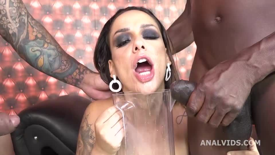 Balls Deep Anal, DP, DAP, pee and cum in mouth (LegalPorno / AnalVids) Screenshot 4