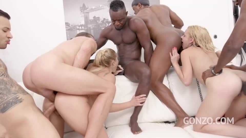 Assfucked together in hardcore orgy with balls deep DP & Piss drinking (LegalPorno) Screenshot 5