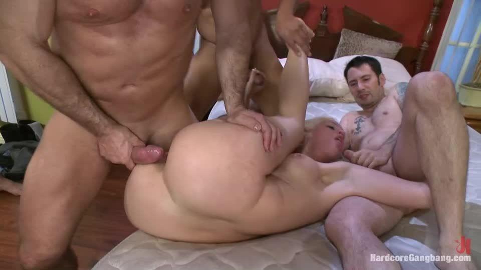 Beautiful Blonde gets set up by Boyfriend with Five Cocks (HardcoreGangbang / Kink) Screenshot 7