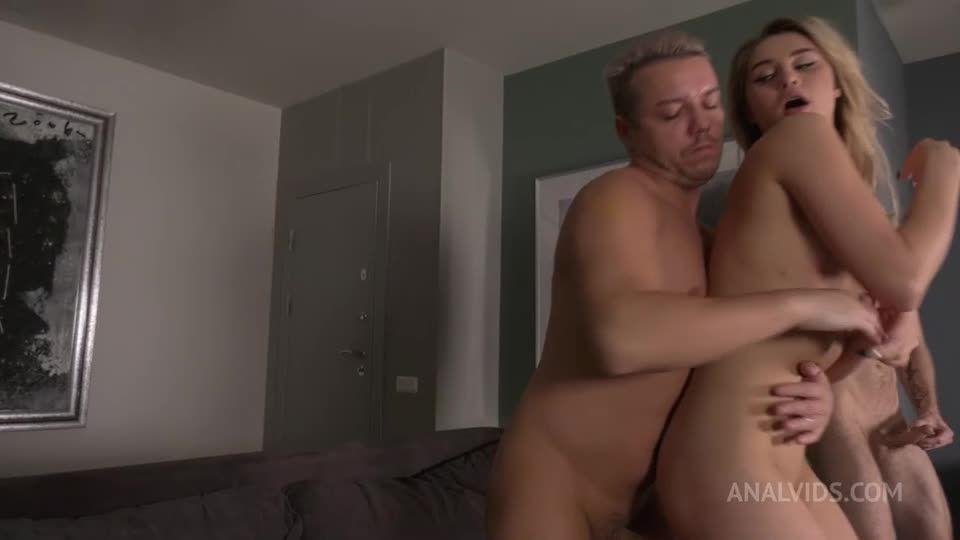 Double Anal with Beauty, 3 Hard dicks versus one narrow anal Neko. Deepthroat, Rough NRX054 (LegalPorno) Screenshot 2