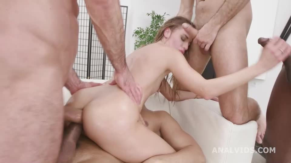 Basined, turns wild with Balls Deep Anal, DAP, Pee Drink and Cum in Mouth (LegalPorno / AnalVids) Cover Image