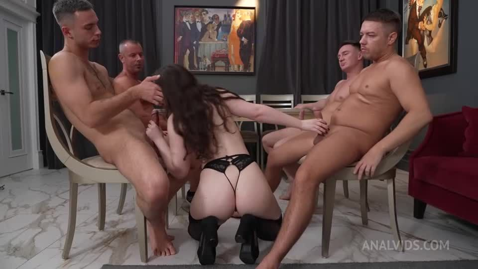 Real Orgasm and First Double Vaginal Penetration With 4 Guys NRX137 (LegalPorno / AnalVids) Screenshot 0
