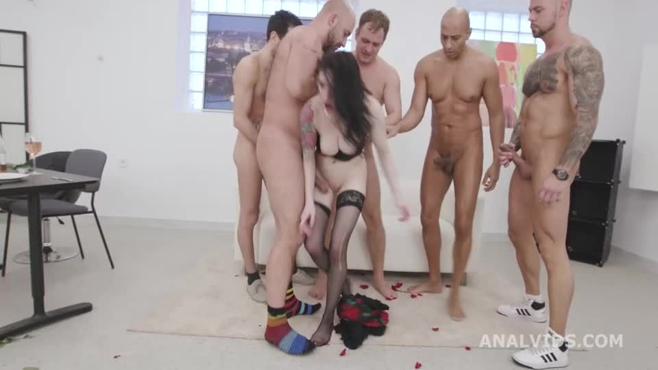 St Valentine's goes Well, Messy fantasy with Balls Deep Anal, DAP, Gapes, Buttrose and Anal creampie (LegalPorno / AnalVids) Screenshot 3