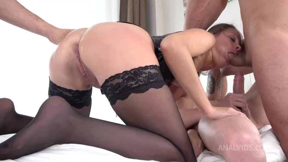 First DP Pissing – Three Piss Cocks – Hard Anal Fuck – Squirting – Stocking – Triple Cum VK071 (LegalPorno / AnalVids) Screenshot 1