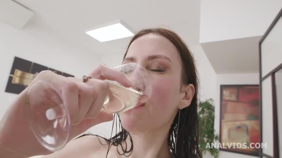 DAP Destination Goes Wet, BWC, ATM, DAP, Gapes, Pee Drink, Cum in Mouth, Swallow (LegalPorno / AnalVids) Screenshot 6