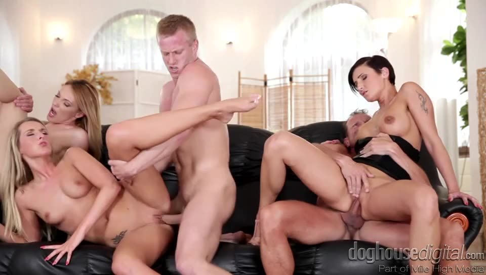 [Mile High / Doghouse Digital] Swingers Orgies 8 - Gabrielle Gucci, Jenny Simons, Gina Momelli (DP)/(Blonde)