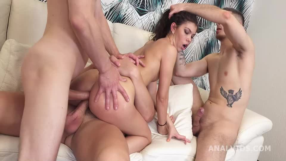[LegalPorno / AnalVids] This Is A DAP, Isn't It? Balls Deep Anal, First DAP, Gapes In Cum In Mouth - Kris Owl (DAP)/(3M1F)