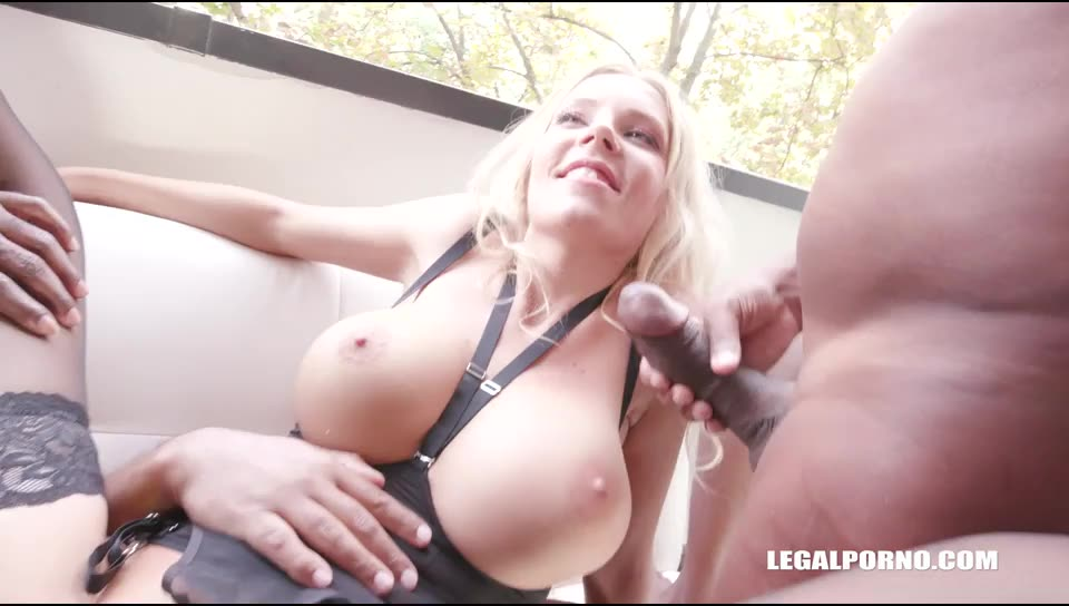 [LegalPorno] Discovers black feeling and two cocks in the ass - Florane Russell (GangBang)/(Interracial)