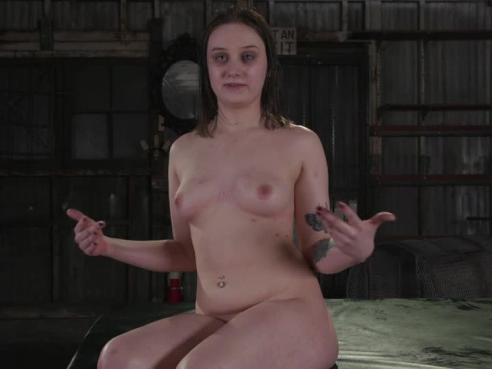 Filthy whore gets her slutty trash holes stuffed airtight (BoundGangBangs / Kink) Screenshot 9
