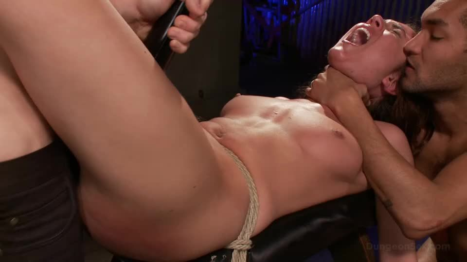 Dungeon Slut Suspended and Fucked by Two Huge Cocks (DungeonSex / Kink) Screenshot 5