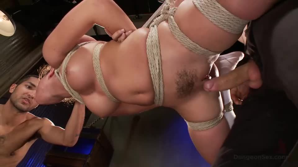 Dungeon Slut Suspended and Fucked by Two Huge Cocks (DungeonSex / Kink) Screenshot 6