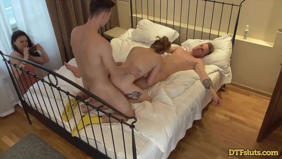 Voyeur DP Threesome With Friends (DTFSluts) Screenshot 4