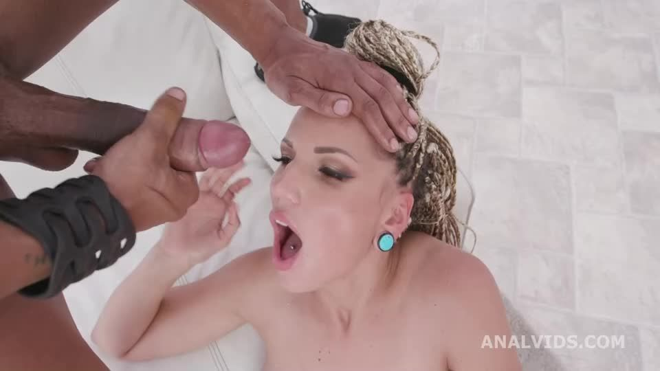 Blacked Blonde, 3 BBC, Balls Deep Anal, DAP, Gapes and Facial (LegalPorno) Screenshot 9