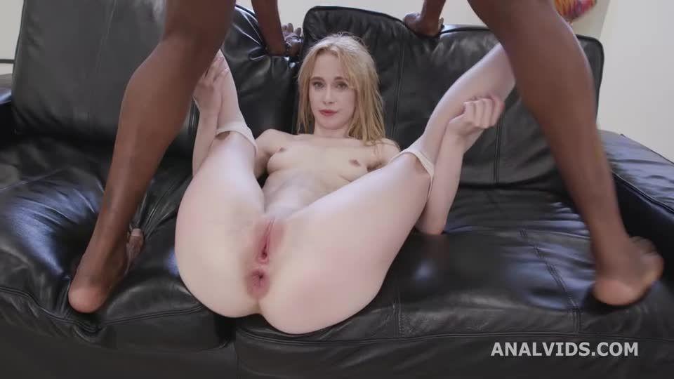 Black Pee, Balls Deep Anal, DP, Gapes, Pee Drink, Creampie, Swallow (LegalPorno / AnalVids) Screenshot 6
