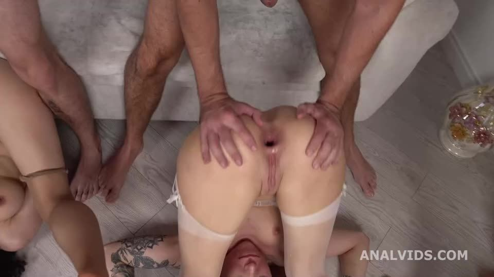 Russian Roses Balls Deep Anal, ButtRose, Gapes, Farts, Squirting and Swallow (LegalPorno / AnalVids) Screenshot 6