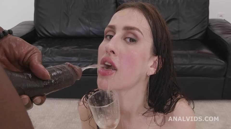 Black Pee, BBC with ATM, DAP, DP, Gapes, Pee Drink and Swallow (LegalPorno / AnalVids) Screenshot 5