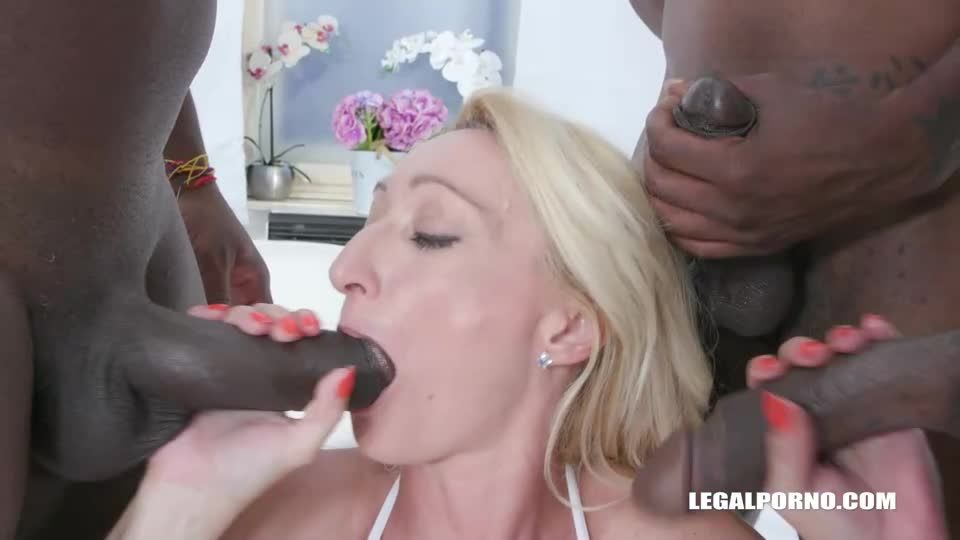 Back to get fucked by 3 BBC (LegalPorno) Screenshot 3