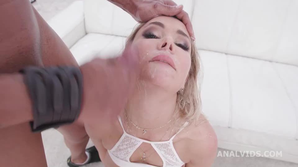 Blacked Blonde, 3 BBC, Balls Deep Anal, DAP, Gapes and Facial (LegalPorno) Screenshot 6