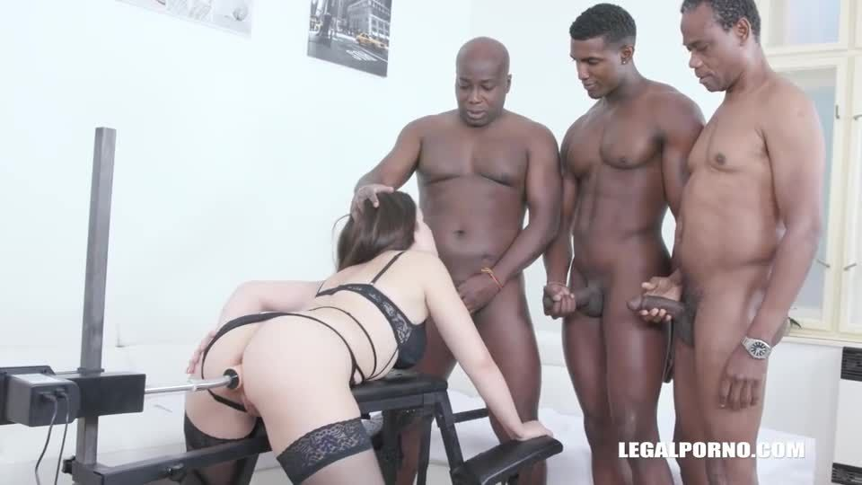 Obedient slut enjoys pissing and anal sex with with black guys (LegalPorno) Screenshot 9