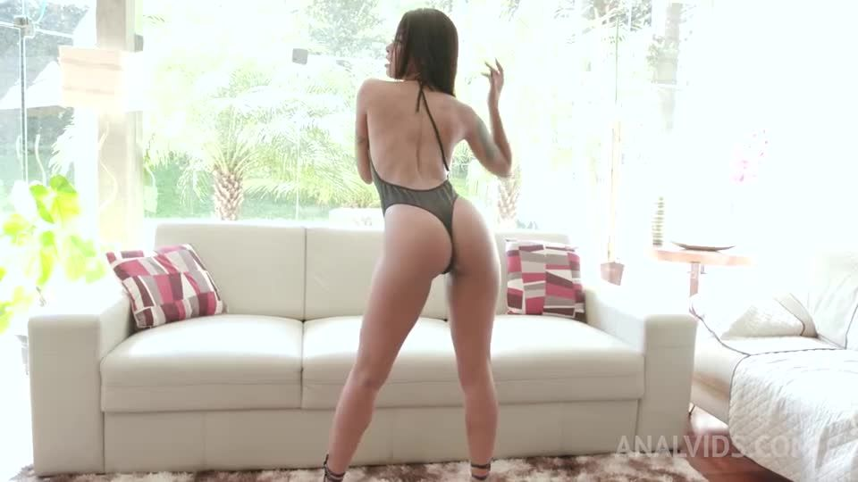 Slender latina squirting from anal with DP, DVP and her first DAP YE100 (LegalPorno / AnalVids) Screenshot 0