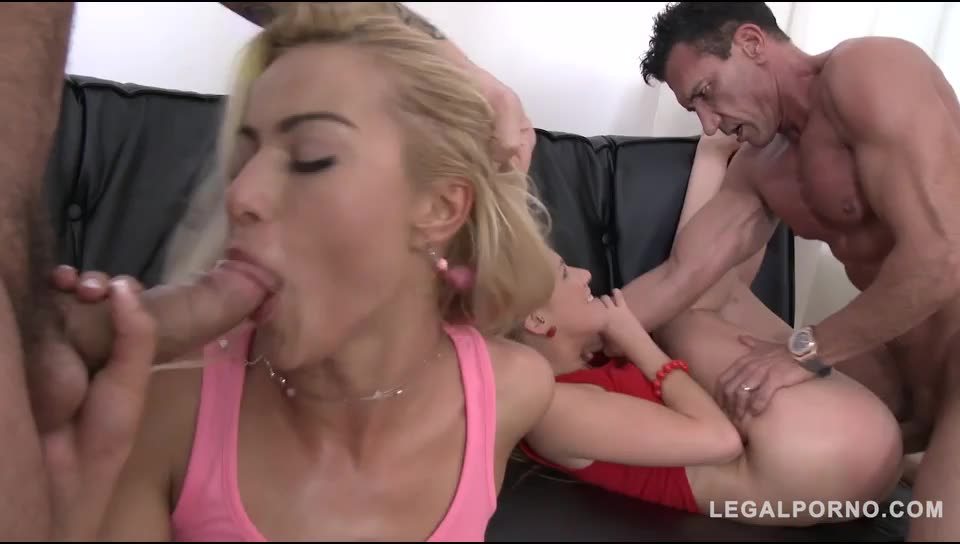[LegalPorno] Extreme anal orgy with DP & DPP (double pussy) - Cherry Kiss, Alexis Crystal (DPP)/(4M2F)