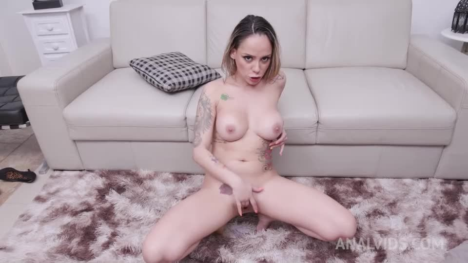 Anal fisted by Polly Petrova and assfucked by 3 cocks with DP and DAP YE127 (LegalPorno / AnalVids) Screenshot 9