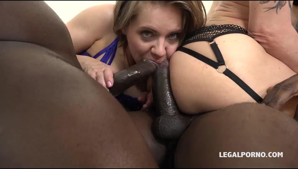 [LegalPorno] Know how to spice three black guys day. Fisting kinky sex and rough play - Sasha Zima, Lyna Cypher (DAP)/(Stockings)